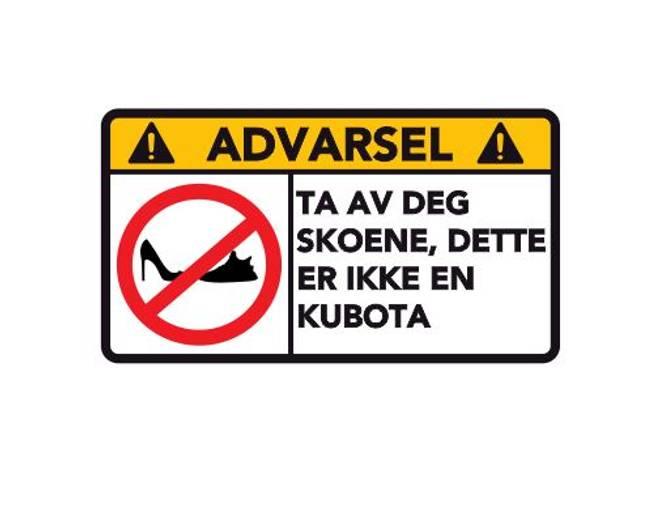 Bilde av Advarsel Dette Er Ikke En Kubota