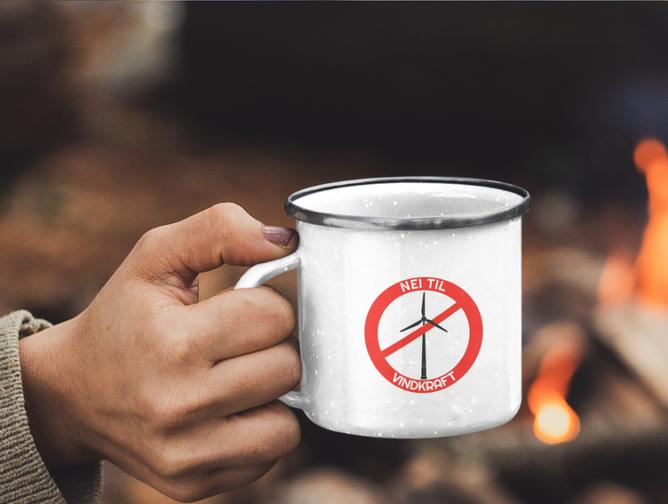 Bilde av Nei til vindkraft kopp